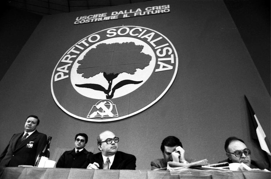 ONGRESSO DEL PARTITO SOCIALISTA PSI ANNO 1978 BETTINO CRAXI CLAUDIO SIGNORILE RINO FORMICA (De Bellis/de Bellis, TORINO - 1978-03-29) p.s. la foto e' utilizzabile nel rispetto del contesto in cui e' stata scattata, e senza intento diffamatorio del decoro delle persone rappresentate