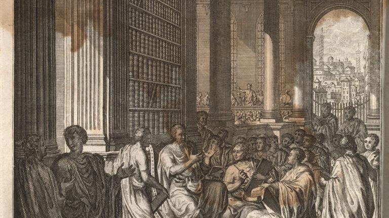 Quintilian,_Institutio_oratoria_ed._Burman_(Leiden_1720),_frontispiece