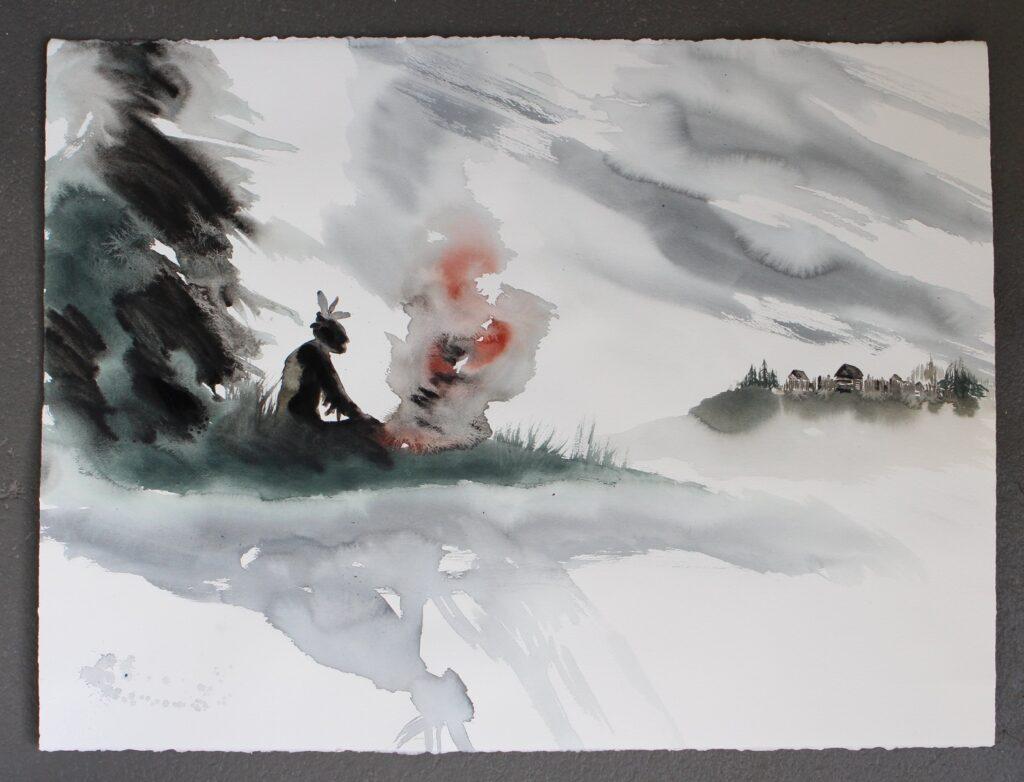 'Passi silenziosi nel bosco', due anime prattiane: dipingere parole e scrivere immagini