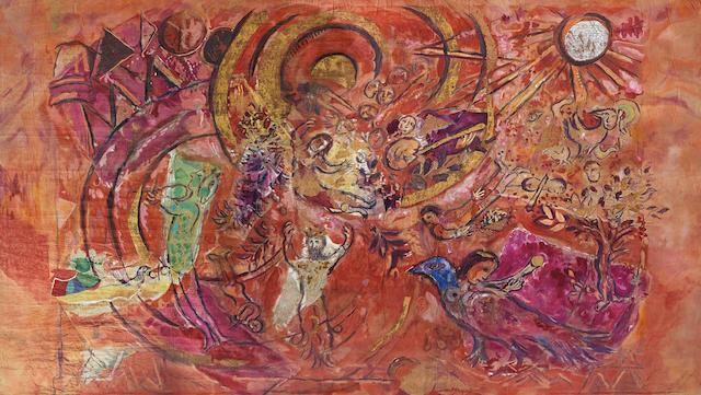 Il sipario di Marc Chagall realizzato per il Flauto Magico di Mozart nel 1967