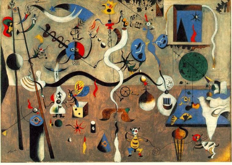 l Carnevale di Arlecchino, Joan Mirò, 1924-1925. Per saperne di più: https://www.stateofmind.it/2020/01/joan-miro-creativita-umore/